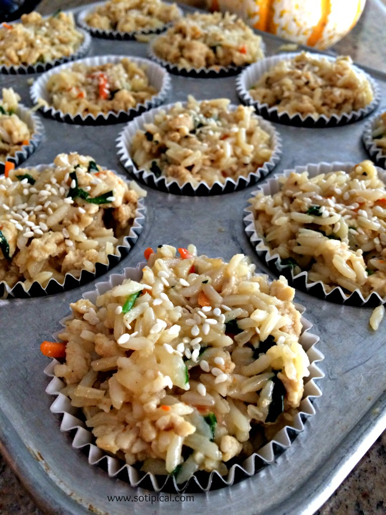 chicken fried rice cups fill tin