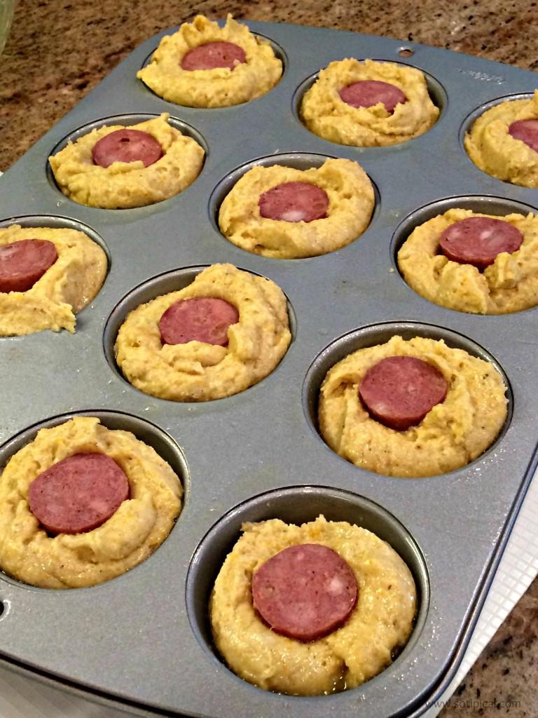 baked gluten free corn dogs pan