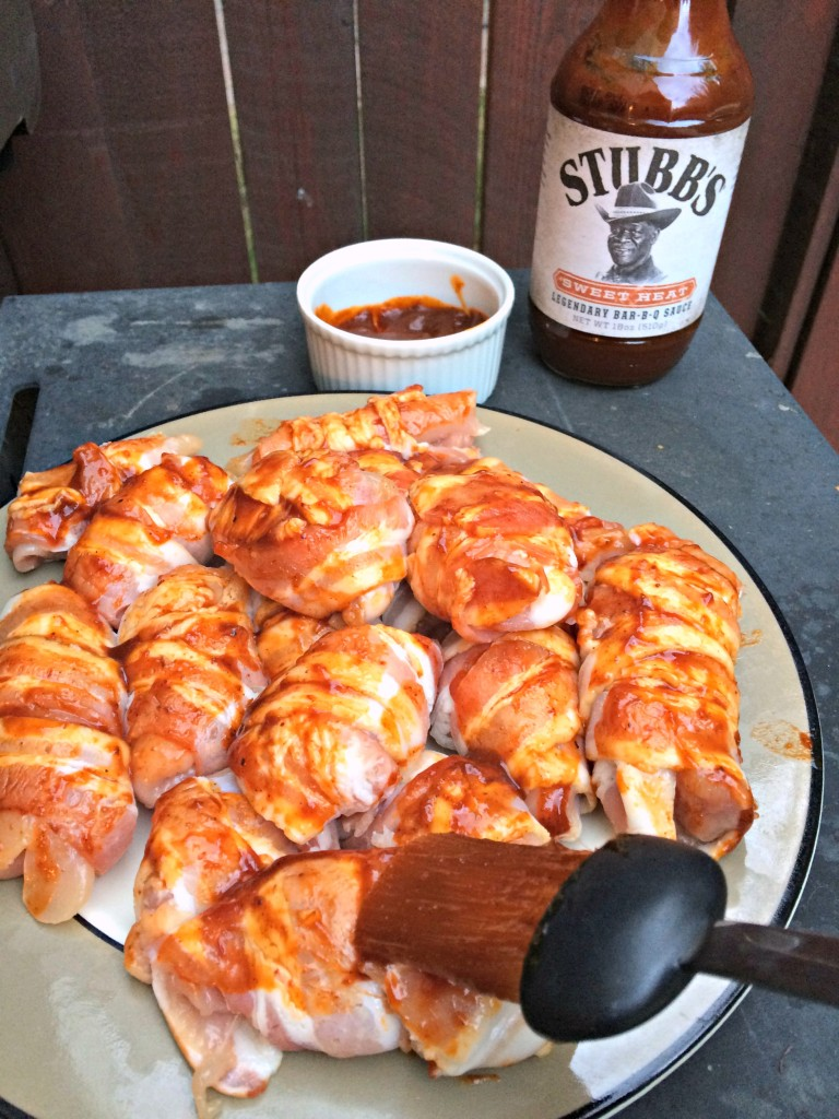 ultimate grilled chicken bombs bbq sauce