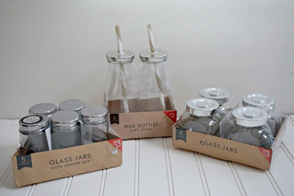 dollar spot spring celebration haul glass jars