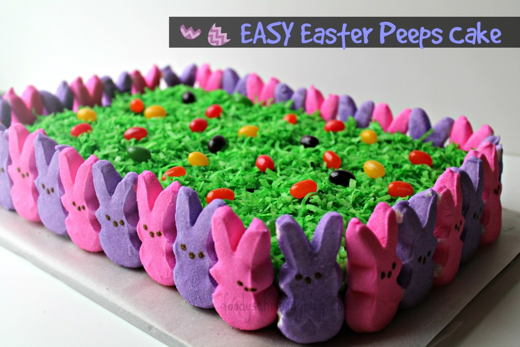 easy-easter-peeps-cake -FS 50 recipes using peeps
