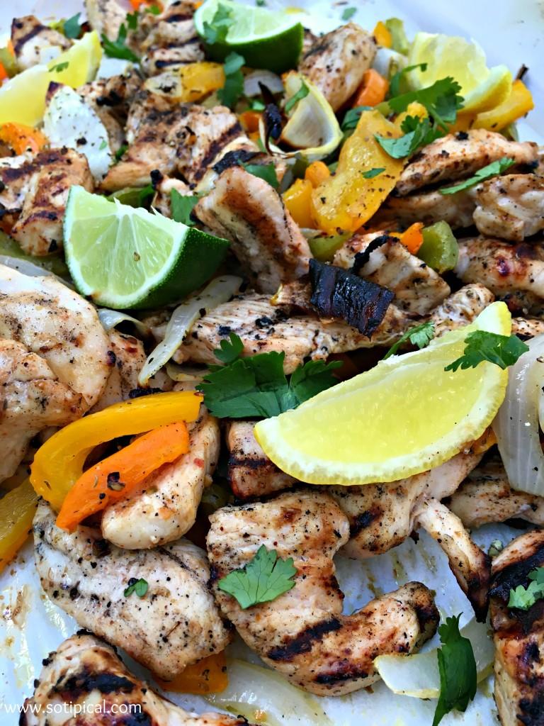 Margarita Chicken Fajitas - SoTIPical.com
