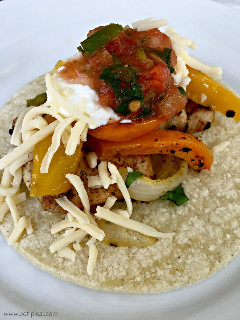 margarita chicken fajitas taco