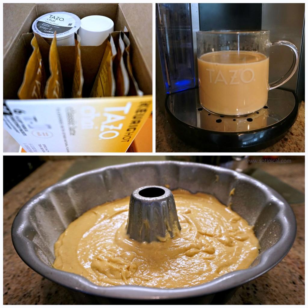 chai latte bundt cake batter