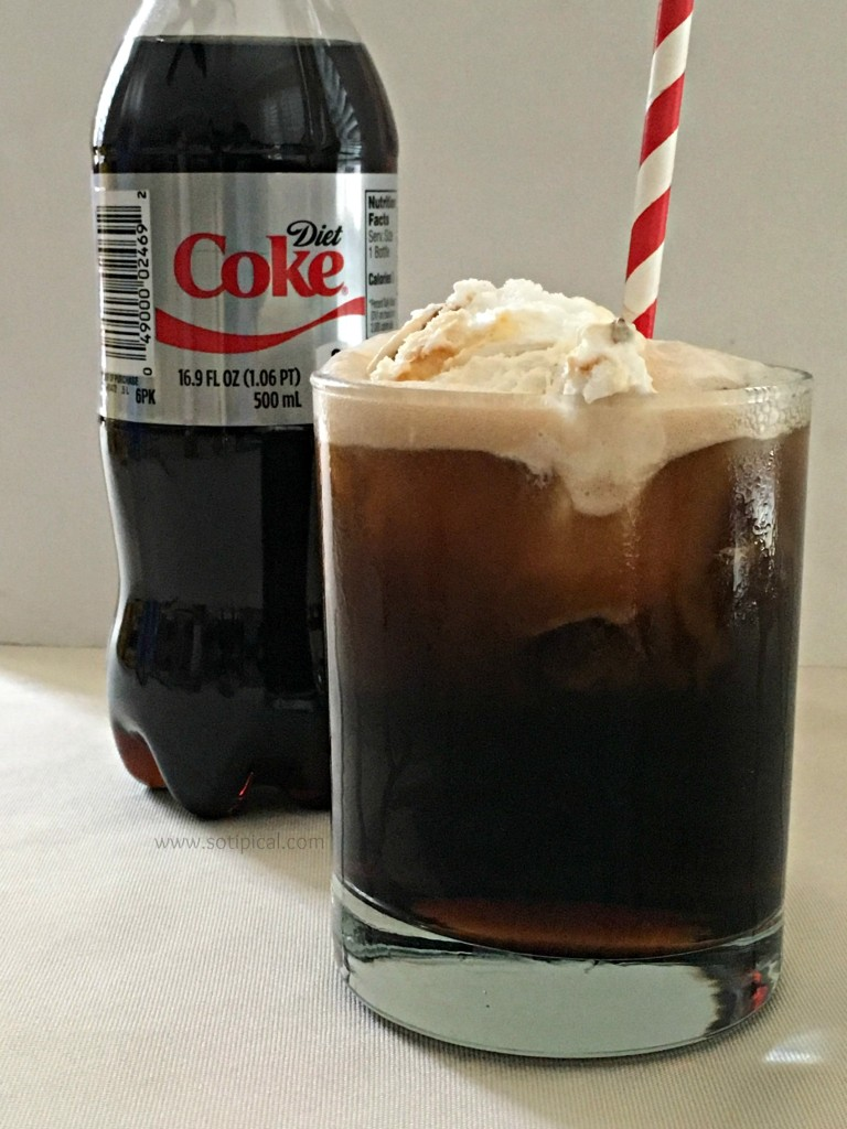 easy banana pudding diet coke float