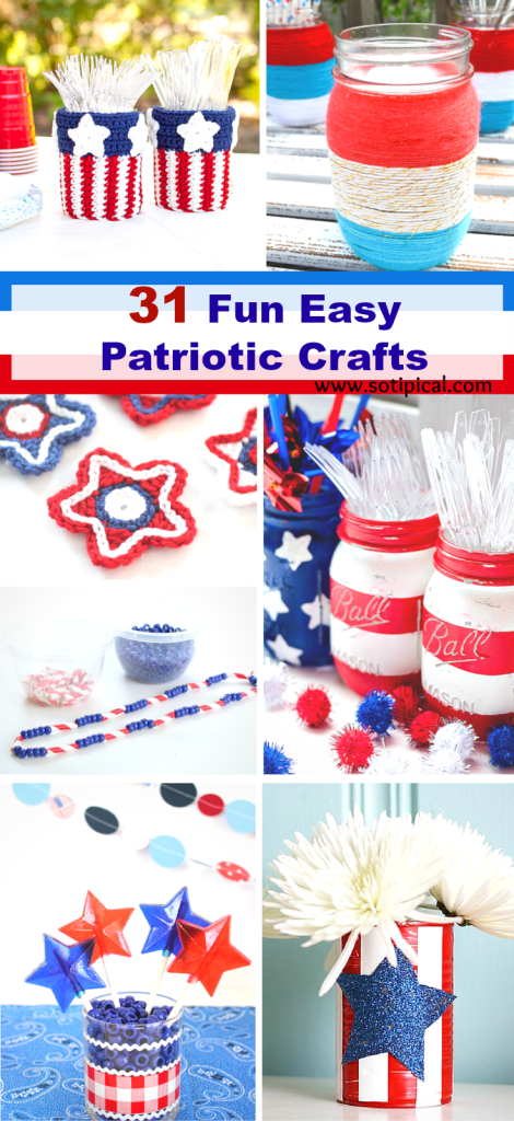 31 Fun Easy Patriotic Crafts Pin