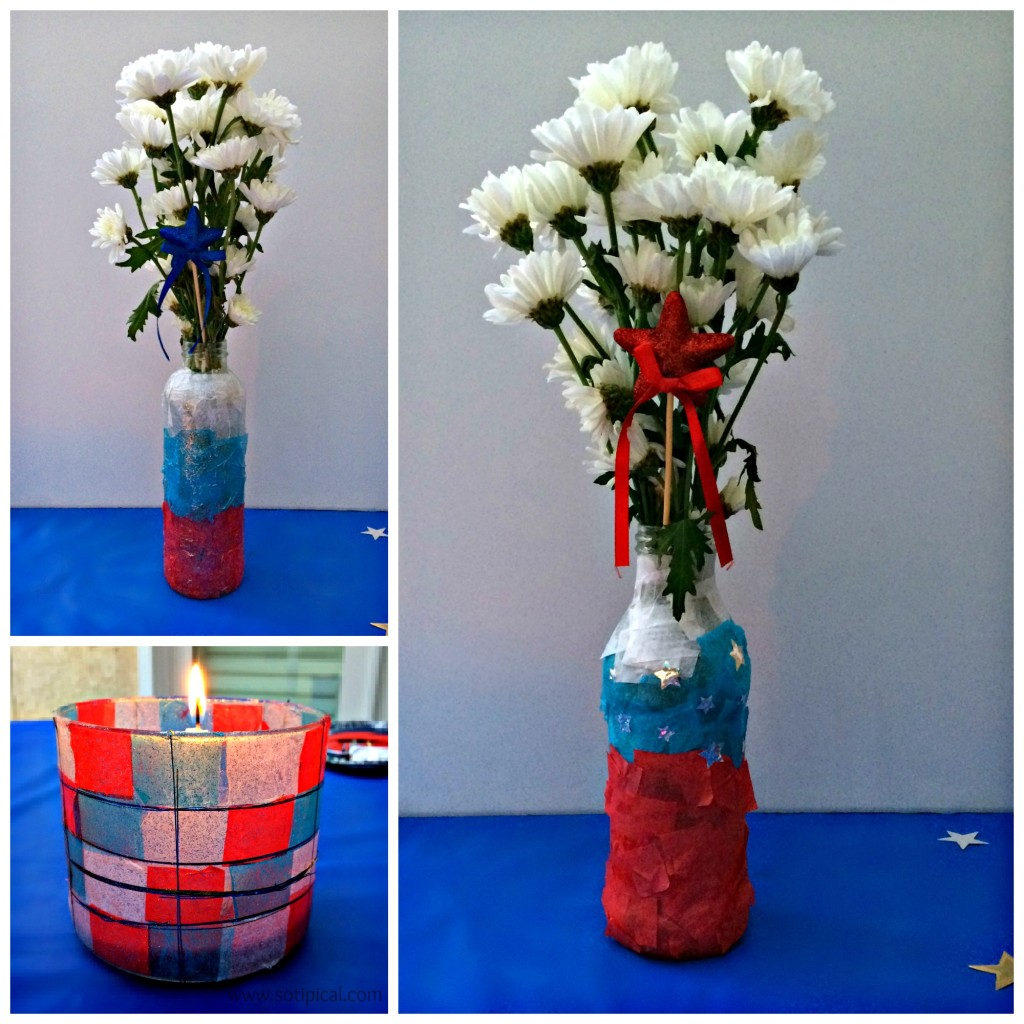 31 fun easy patriotic crafts upcycle patriotic vase and candle