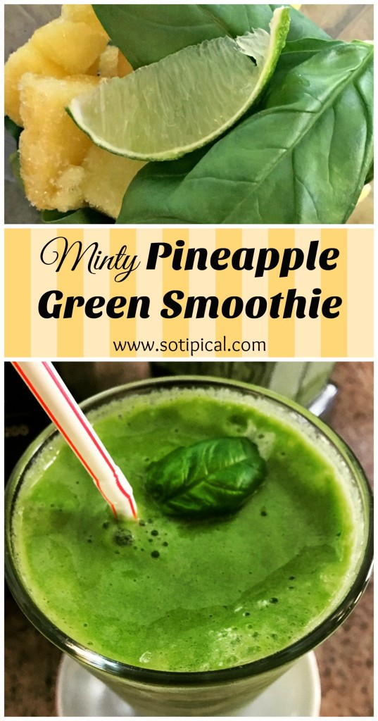 minty pineapple green smoothie pin