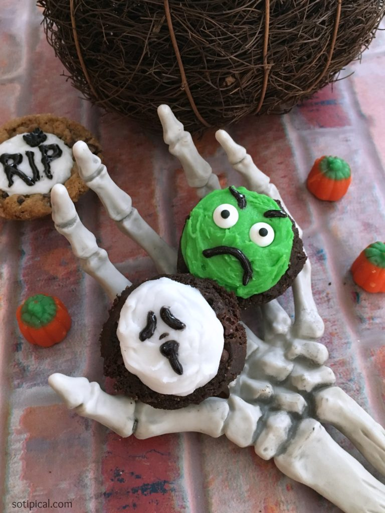 halloween cookie cups spooky