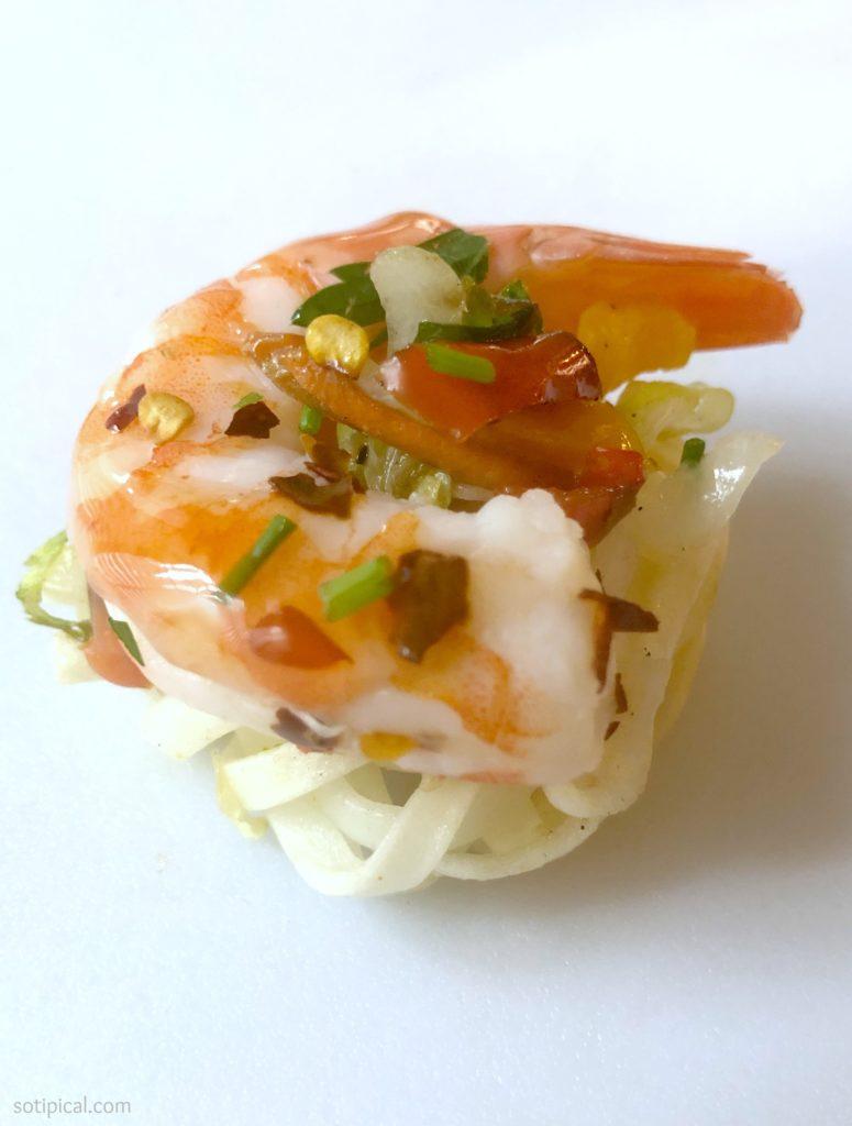 gluten free noodles and shrimp